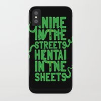 hentai iPhone & iPod Cases featuring Anime in the streets hentai in the sheets by BomDesignz
