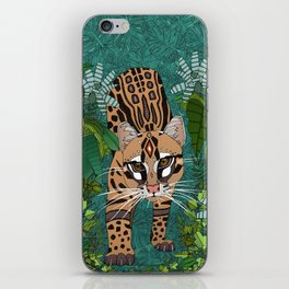 ocelot jungle green iPhone Skin