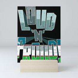 Uzbekistan Pride Loud N Proud Mini Art Print