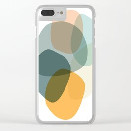 Cool Zen Abstract Organic Shapes Clear iPhone Case