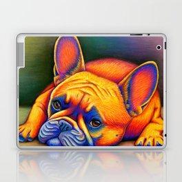 Colorful French Bulldog Rainbow Dog Pet Portrait Laptop & iPad Skin