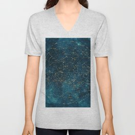 Under Constellations Unisex V-Neck