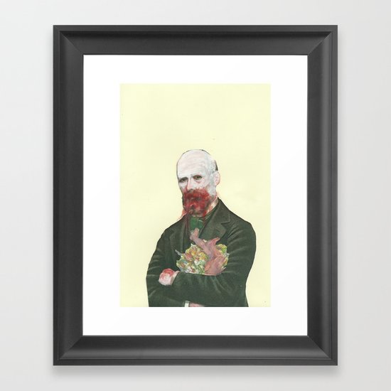 By wearing the beast , we become the beast  Framed Art Print