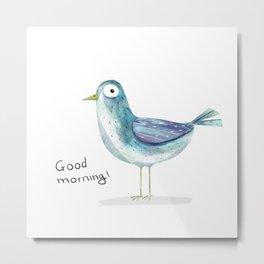 morning bird Metal Print