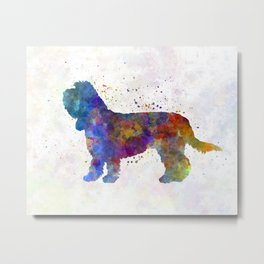 Grand Basset Griffon Vendeen in watercolor Metal Print