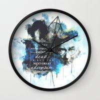 dumbledore Wall Clocks featuring Dumbledore by Rose's Creation