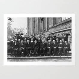 1927 Solvay Conference on Quantum Mechanics Art Print