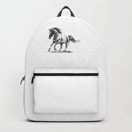 Running Horse Horseback Riding Horse Lover Backpack