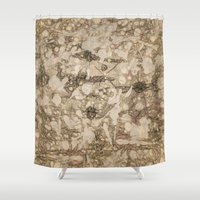 da vinci Shower Curtains featuring da Vinci Angels by Bruce Stanfield