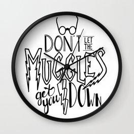Muggles get you down Wall Clock