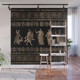 Greek Deities and Meander key ornament Wall Mural