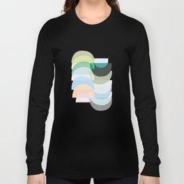 Pastel Geometry 3 Long Sleeve T-shirt