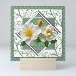 Magnolias in Frame Mini Art Print