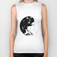 ying yang Biker Tanks featuring Ying & Yang by Kurew Kreations