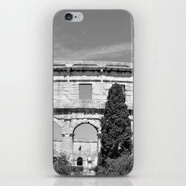 arena amphitheatre pula croatia ancient black white iPhone Skin