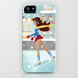 Ice Skating Girl iPhone Case