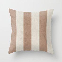 vintage natural stripes Throw Pillow