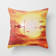 Tie Fighters Throw Pillow