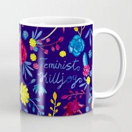 Bright Colourful Floral Feminist Killjoy Pattern Coffee Mug