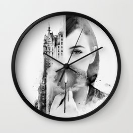 City Within Wall Clock