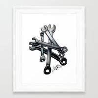 tool Framed Art Prints featuring Tool by LewisLeathers