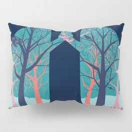 Human lungs with abstract forest inside illustration Pillow Sham