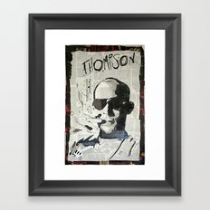 Dr. Hunter S. Thompson Framed Art Print