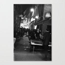 Golden triangle night life - Bordeaux Canvas Print