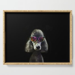 Too Cool Poodle Serving Tray