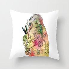 Beetle Queen Throw Pillow