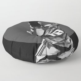 Bruno Fernandes on Black and White Color Floor Pillow