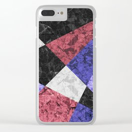 Marble Geometric Background G435 Clear iPhone Case