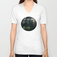 never stop exploring V-neck T-shirts featuring Never Stop Exploring II by Leah Flores