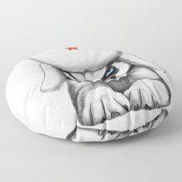 Siberian husky Floor Pillow