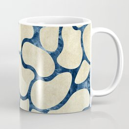 Gold Beans Outline Rose Teal Paper Coffee Mug