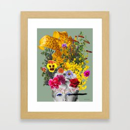 Bardot flowers Framed Art Print