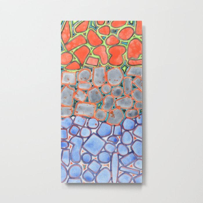 Summer Heat over Refreshing Water Pattern Metal Print