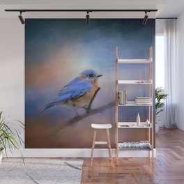 The Happiest Blue - Bluebird Wall Mural