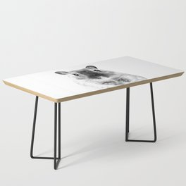 Black and White Hamster Coffee Table