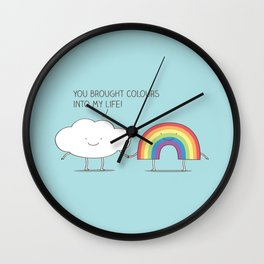 rainbow connection Wall Clock