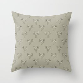 Floral Print Drawing Pattern Throw Pillow