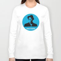 tom waits Long Sleeve T-shirts featuring Tom Waits Record Painting by All Surfaces Design