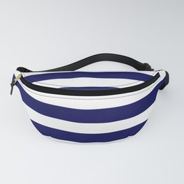 Navy Blue & White Stripes - Mix & Match with Simplicity of Life Fanny Pack