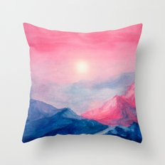 Pastel vibes watercolor 01 Throw Pillow