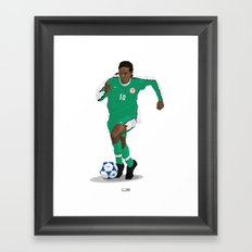Jay Jay Okocha - Country - Nigeria 1998  Framed Art Print