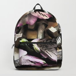 Flowers & Tools By LyubovArt Backpack