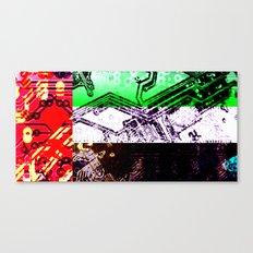 circuit board united arab emirates (flag) Canvas Print
