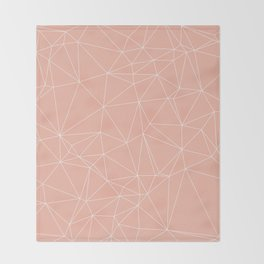 Millennial Pink Geometric Minimalist Pattern Throw Blanket