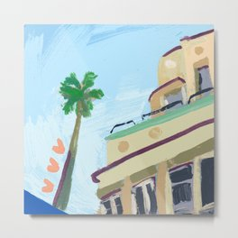 North Beach, Miami Metal Print