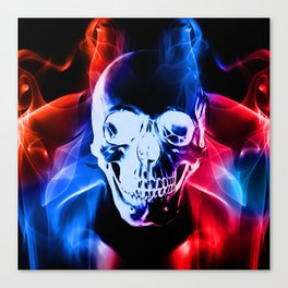 Smokey Skull Canvas Print